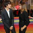 Alain-Fabien Delon et Clotilde Courau au vernissage de l'exposition Miss Dior qui s'est tenu au Grand Palais le 12 novembre 2013