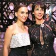 Natalie Portman et Sophie Marceau au vernissage de l'exposition Miss Dior qui s'est tenu au Grand Palais le 12 novembre 2013