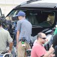 Bella Thorne et Shaquille O'Neal lors d'un tournage pour la campagne Decade à destination des adolescents, afin de les sensibiliser sur les méfaits de l'alcool, le 12 novembre 2013