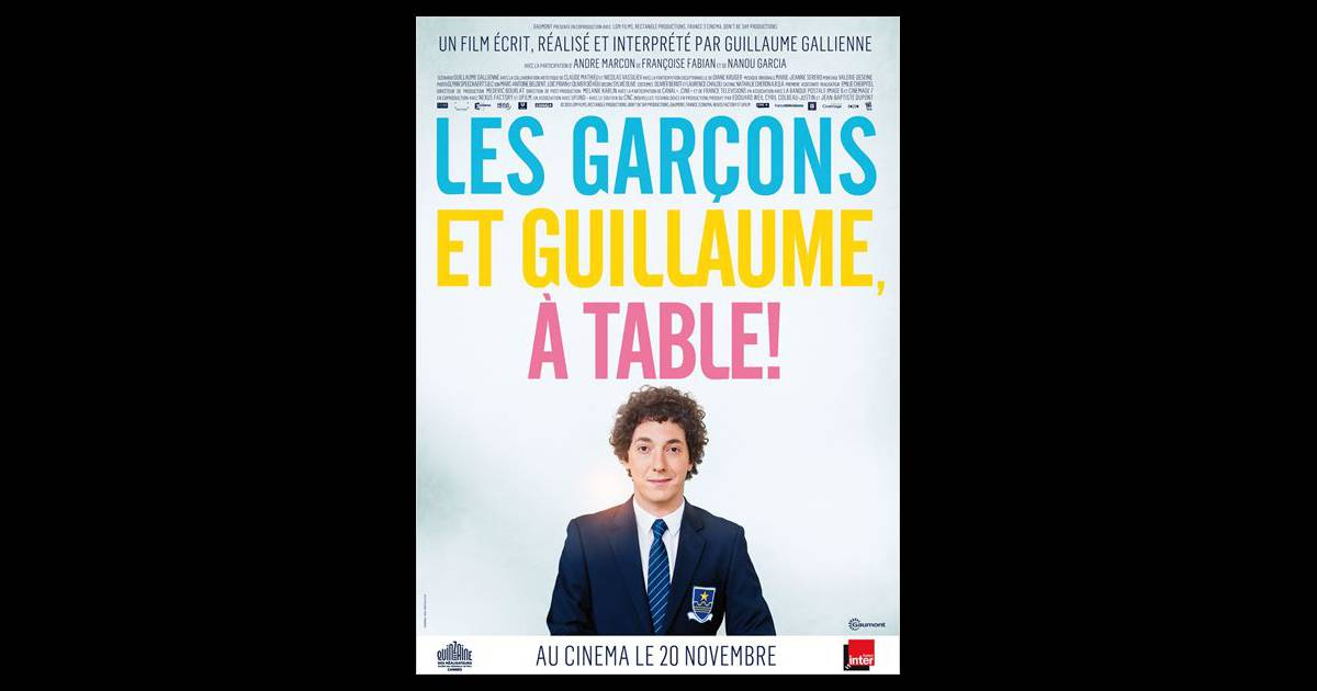 Affiche du film les gar ons et guillaume table - Chanson guillaume et les garcons a table ...