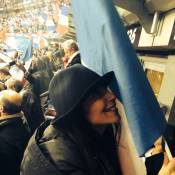 France-Ukraine : Leïla Bekhti et M. Pokora, fans conquis par l'exploit des Bleus