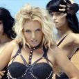 Britney Spears sur le tournage de son clip Work Bitch, en septembre 2013.