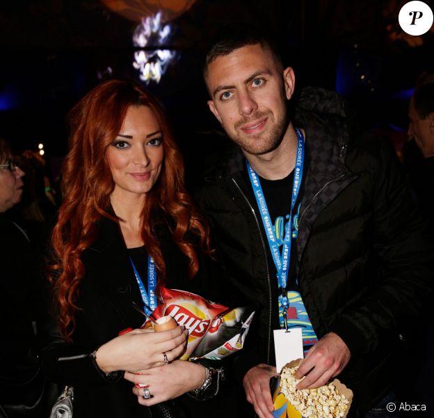 Jeremy Menez et sa femme Emilie Nef-Nafà la soirée One Drop Party pour le 'Cirque du Soleil' à Boulogne-Billancourt, le 28 novembre 2013.