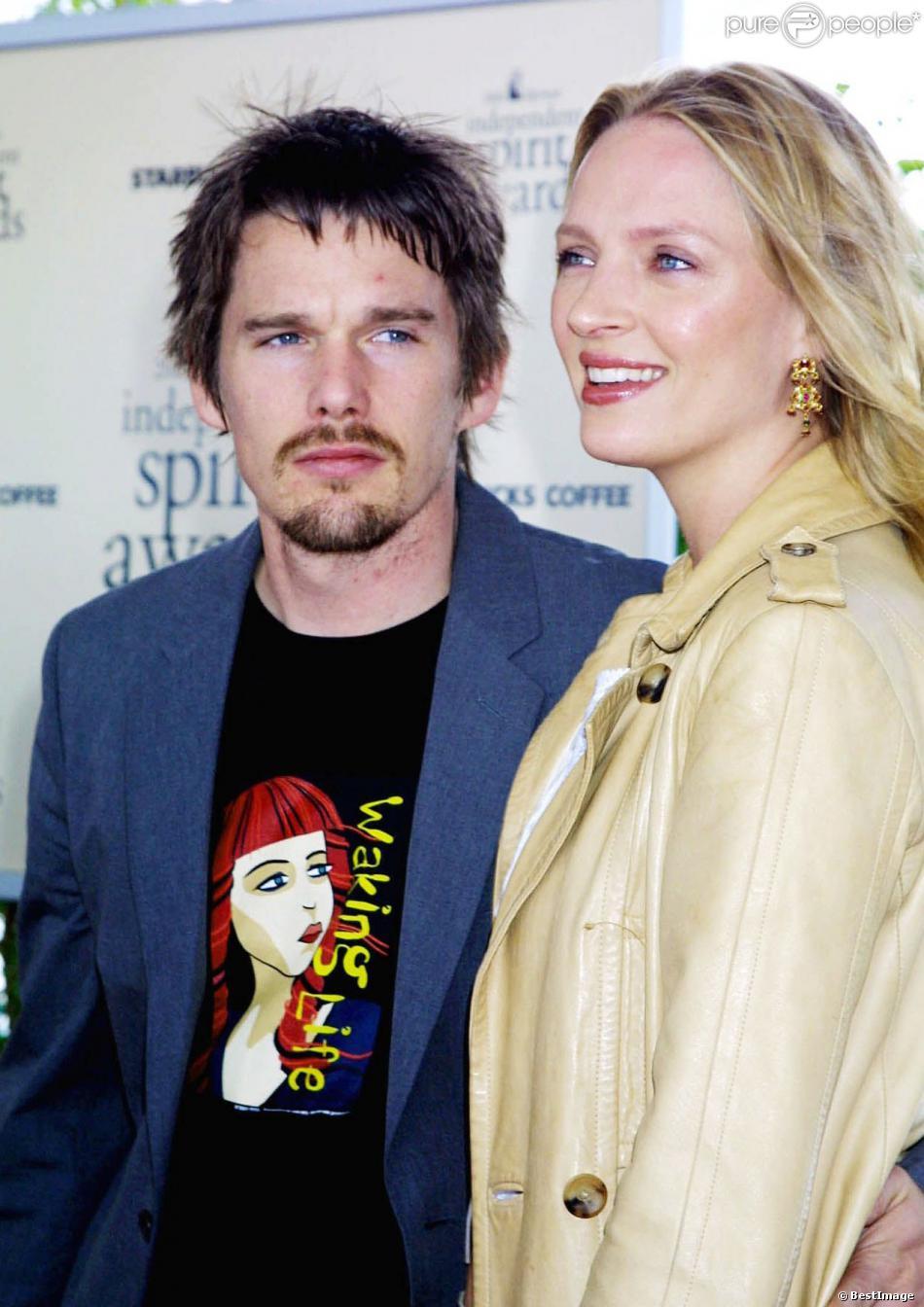 Ethan Hawke et Uma Thurman à Santa Monica, le 25 mars 2002.