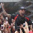 Chris Brown sur le plateau de l'émission Today à New York. Le 30 août 2013.