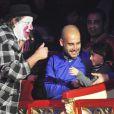 Le coach du Bayern Munich Josep Guardiola avec sa fille Valentina (5 ans) aux 20 ans de l'ONG Clowns Sans Frontières au Cirque Roncalli à Munich, le 2 décembre 2013.