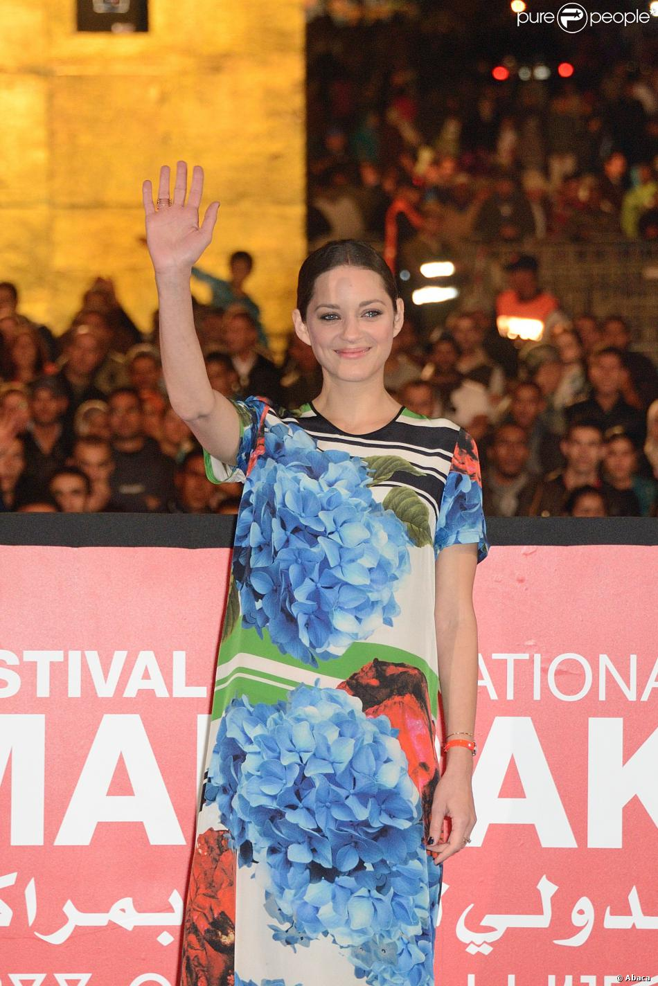 Marion Cotillard lors de la projection du film Public Enemies, au festival de Marrakech le 5 décembre 2013