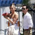 Jennifer Lopez et son ex-mari Marc Anthony à Los Angeles, le 19 juin 2013.