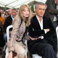 Exclusif - Arielle Dombasle et Bernard-Henri Lévy à la maison Zola à Médan, le 6 octobre 2013.