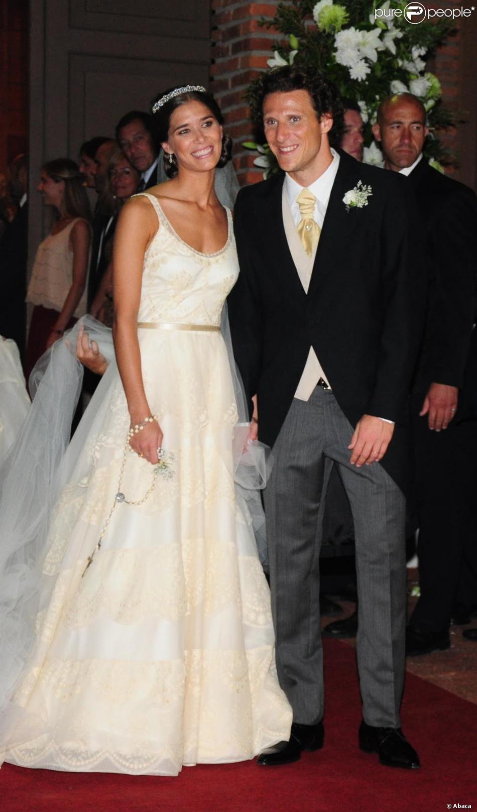 Diego Forlan et Paz Cardoso lors de leur mariage à Montevideo le 12 décembre 2013.