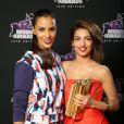 Shy'm et Tal des 15e NRJ Music Awards 2013, à Cannes le 14 décembre2013.