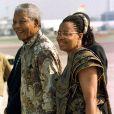 Nelson Mandela et Graça Machel le 8 juillet 1997.