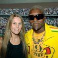 Djibril Cissé et son ex-épouse Jude à Roland-Garros le 3 juin 2006