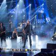 """Exclusif - Le grand Johnny Hallyday enregistre l'emission """"Ce soir on chante les tubes 2013"""", diffusée le 3 janvier 2014 sur TF1 et présentée par Estelle Denis, le 9 décembre 2013"""