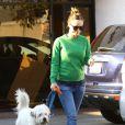 Olivia Wilde, enceinte, dépose son chien au camp pour animaux domestique K-9 Camp à Los Angeles, le 20 décembre 2013.