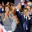 Cécilia Attias était au côté de Nicolas Sarkozy le soir de sa victoire place de la Concorde, le 7 mai 2007.