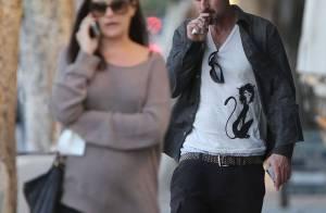 David Arquette : Futur papa relax avec sa jolie compagne, baby bump bien rond