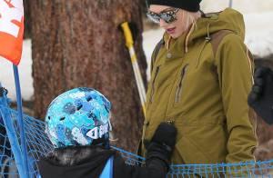 Gwen Stefani : Enceinte et en famille au ski, comme son ami Seal