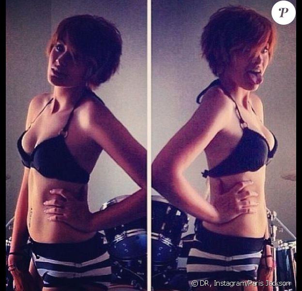 Paris Jackson pose en bikini sur Instagram, le 2 janvier 2014.
