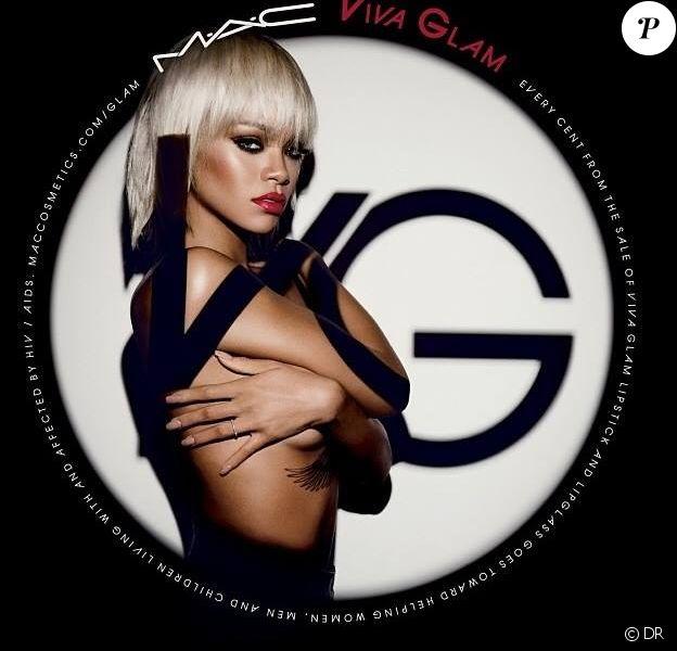 Rihanna, visage de la nouvelle campagne Viva Glam pour M.A.C Cosmetics. Photo par Inez et Vinoodh.