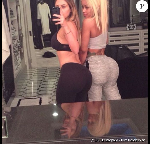 Kim Kardashian et Blac Chyna exposent leurs jolis postérieurs sur Instagram.