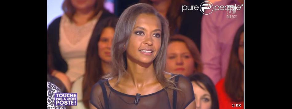 Karine Le Marchand, très décolletée, invitée dans Touche pas à mon poste sur D8, le lundi 6 janvier 2014