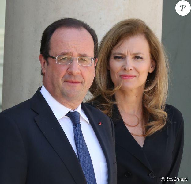 François Hollande et Valérie Trierweiler à Paris, le 6 juin 2013.