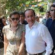 François Hollande et Valérie Trierweiler à Bormes-les-Mimosas, le 3 août 2012.
