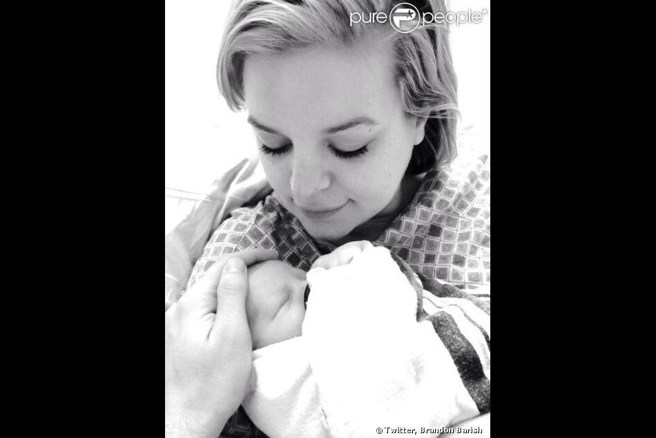 Kirsten Storms et sa fille Harper, née le 87 janvier 2014.
