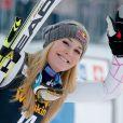 Lindsey Vonn lors de sa victoire au slalom géant de Maribor, le 26 janvier 2013
