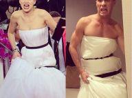 Jennifer Lawrence aux Golden Globes : Petite Sirène, couette... Le buzz de sa robe