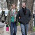 Le prince Nikolaos et la princesse Tatiana de Grèce se promenant incognito le 12 janvier 2014 à Athènes, où ils sont venus s'installer à l'automne 2013