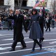 Barack et Michelle Obama défilent lors de la cérémonie d'investiture du président à Washington. Le 21 janvier 2013.