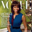 Michelle Obama en couverture du magazine Vogue. Avril 2013.