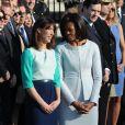 Samantha Cameron et Michelle Obama à la Maison Blanche. Washington, mars 2012.