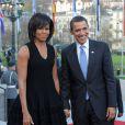 Michelle et Barack Obama à Baden-Baden en Allemagne. Avril 2009.