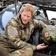 """"""" Le prince Harry en Afghanistan, à Camp Bastion dans la province du Helmand, lors de sa mission de septembre 2012 à janvier 2013. En janvier 2014, le Captain Wales, commandant d'Apache, renonce à piloter pour prendre un poste dans les bureaux de l'état-major, à Londres. """""""