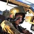 """"""" Le prince Harry à Camp Bastion dans la province du Helmand, en Afghanistan, lors de sa mission de septembre 2012 à janvier 2013. En janvier 2014, le Captain Wales, commandant d'Apache, renonce à piloter pour prendre un poste dans les bureaux de l'état-major, à Londres. """""""