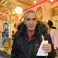 Samy Naceri lors de l'inauguration de la 50e édition de la Foire du Trône à Paris le 29 mars 2013