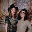 Aurélie Saada et Sylvie Hoarauassistent au défilé haute couture Alexis Mabille printemps-été 2014 à l'Hôtel d'Evreux. Paris, le 20 janvier 2014.