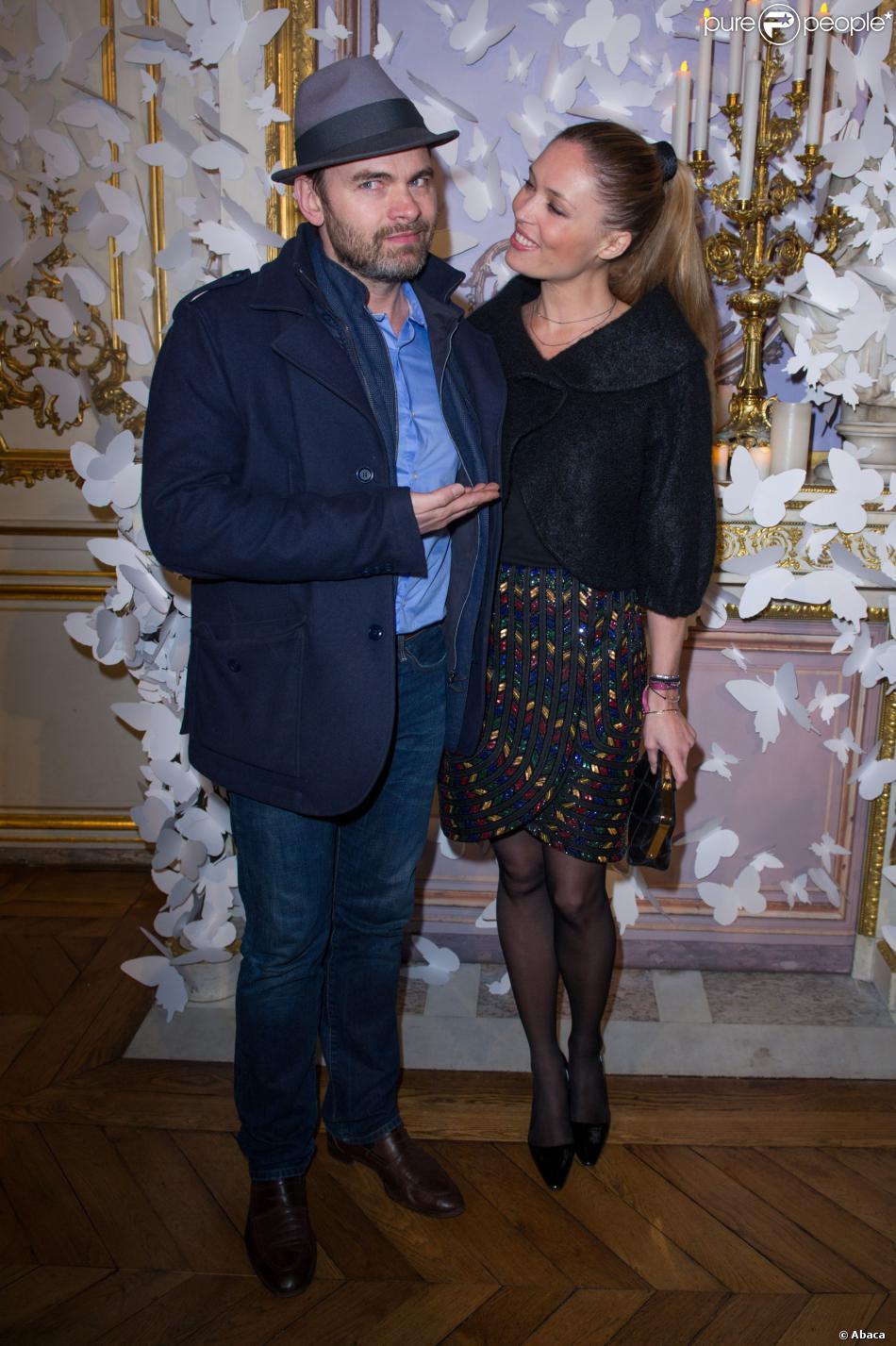Clovis Cornillac et Lilou Fogliassistent au défilé haute couture Alexis Mabille printemps-été 2014 à l'Hôtel d'Evreux. Paris, le 20 janvier 2014.