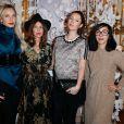 Melonie Foster Hennessy,Aurélie Saada, Audrey Marnay etSylvie Hoarauassistent au défilé haute couture Alexis Mabille printemps-été 2014 à l'Hôtel d'Evreux. Paris, le 20 janvier 2014.
