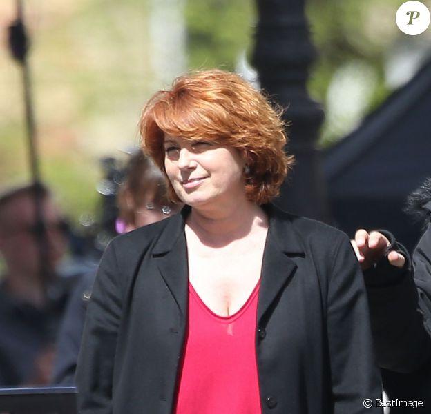 Exclusif - Véronique Genest, sur le tournage du 100e et avant-dernier épisode de Julie Lescaut à Paris, le 18 avril 2013