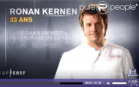 Ronan Kernen ( Top Chef  2011) révèle être aujourd'hui en couple.