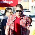 Chord Overstreet sur le tournage de la 5e saison de Glle à Los Angeles, le 16 janvier 2014.
