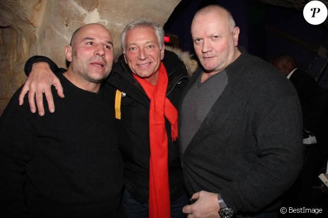Vincent moscato laurent boyer et nounour le patron du restaurant lors de la soir e pour le 10e - Laurent boyer et sa nouvelle compagne ...