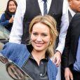 Hilary Duff à la sortie du restaurant Cecconi à West Hollywood, Los Angeles, le 30 janvier 2014.