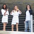 Lais Ribeiro et Behati Prinsloo en plein tournage pour Victoria's Secret. Miami, le 31 janvier 2014.