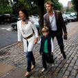 L'ex-femme du prince Joachim, Alexandra, avec son nouvel époux et son fils Felix