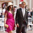 Andrea Casiraghi et son épouse Tatiana Santo Domingo lors du mariage du prince Albert II de Monaco et Charlene Wittstock à Monaco, le 2 juillet 2011